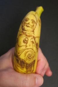 C3PO Banana Tattoo