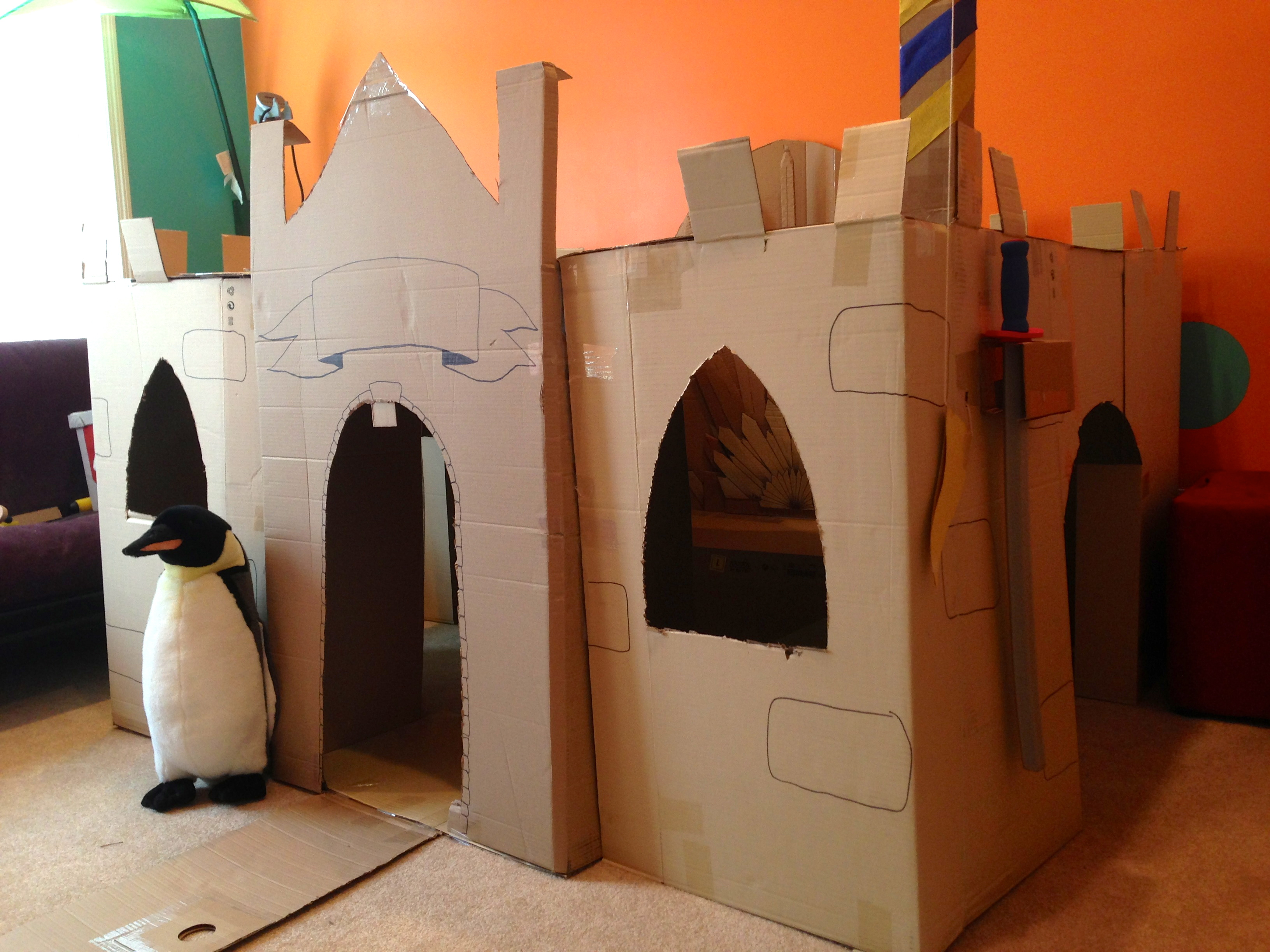 Pictures Of The Cardboard Keep Complete With Iron Cardboard Throne