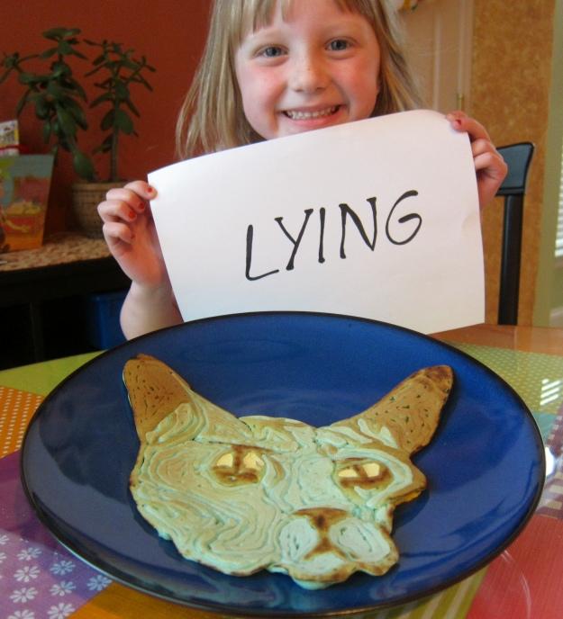 Lying Cat Pancake