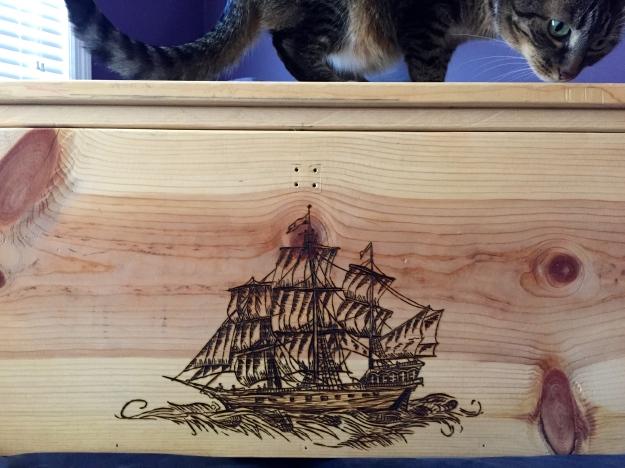 Wood Burning Pirate Ship